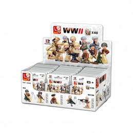WWII Minifigures, 48 pcs...