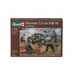 FIGURES 1/72 GERMAN 7,5CM