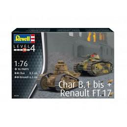 1:76 Char B.1 bis & Renault...
